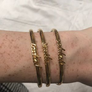 Kate Spade Gold Bracelets set of 3!